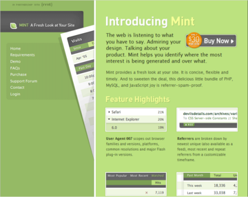 Mint: A Fresh Look at Your Site