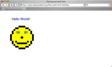 Safari で Acid2 テストを表示した様子